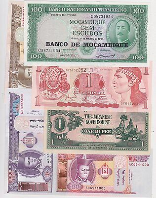 26 Different World Banknotes In High Grade