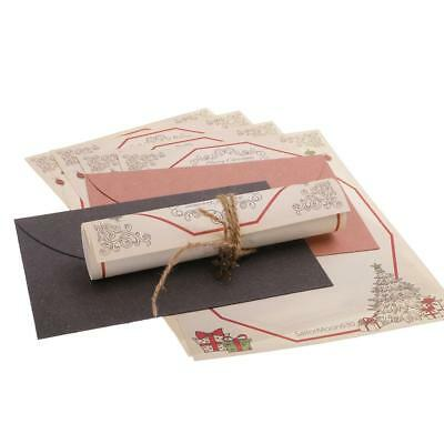 Christmas Theme Letter Paper Envelope Sets Greeting Cards