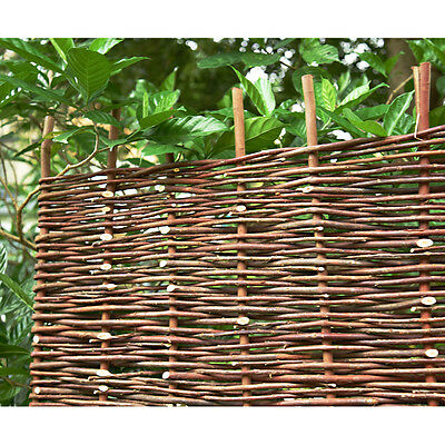 3Ft*6Ft Woven Wooden Willow Hurdle Fence Panel Natural Garden Fencing Screening