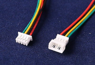 5PR (10 Pcs} 100MM 1.25 4-Pin Micro JST Male & Female Connectors Adapters