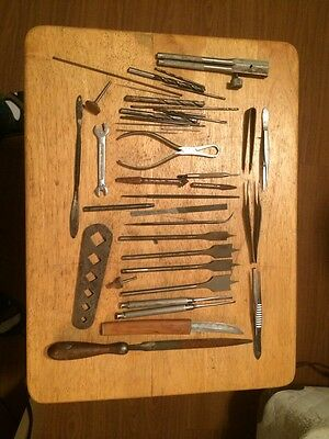 Vintage Lot Of Different Type Of Drill Bits -files -tools And Other Things