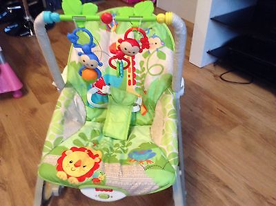 Fisher-Price rainforest friends Infant-to-Toddler Rocker and Seat - boxed