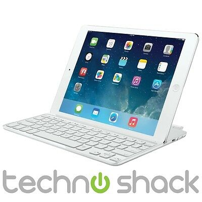Logitech Ultrathin Bluetooth Keyboard Cover for iPad Air - White - Eng UK Layout