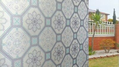 90 CM x 5 M - Stained Glass (B) Removable Frosted Window Glass Film for privacy