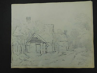 Antique Pencil Drawing Lower Bullingham Herefordshire c.1830