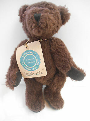"""Boyds Bears The Archive Collection """"Asquith"""" brown stuffed toy bear"""