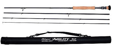 "Shakespeare Agility Fly Rod 9`6"" #6 HALF RRP With Travel Case"