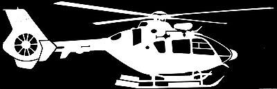 AIRBUS HELICOPTERS EC135 *Auto Window Decal*  8 Year Exterior Grade Vinyl