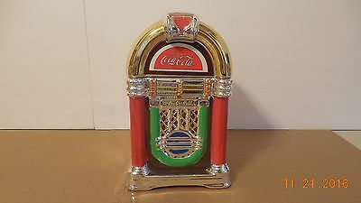 Coca-Cola Coke & A Song Jukebox Cookie Jar Gibson 2002