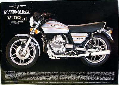 MOTO GUZZI V 50 II Motorcycle Sales Sheet Mid 1979