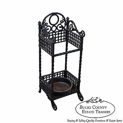 Bradley & Hubbard Antique Cast Iron Cane Stand