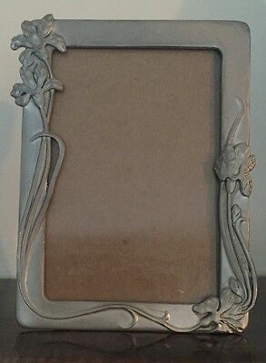 Seagull Fine Pewter Canada Vintage Picture Frame Iris Flowers