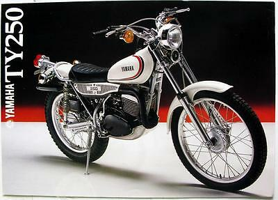 YAMAHA TY250 Motorcycle Sales Sheet c1980 #LIT-3MC-0107302-80E