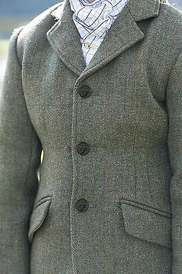 Equetech Mens Claydon Tweed Jacket - Quality Hacking Jacket - Pure New Wool