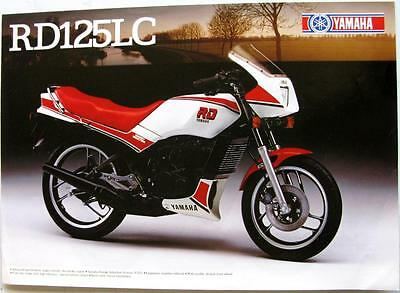 YAMAHA RD 125 LC Motorcycle Sales Sheet 1985 #LIT-3MC-0107825-85E