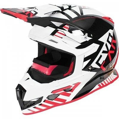 FXR Boost Battalion Helmet Black Red White MEDIUM