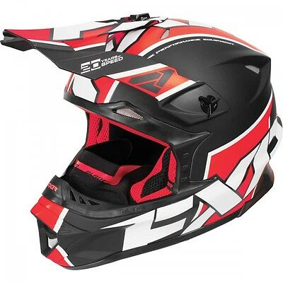 FXR Blade Clutch Helmet Black Red White Large