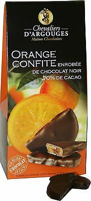 2 x candied orange covered with chocolate
