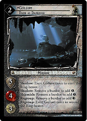 Lord of the Rings LOTR TCG - Reflections - 9R+28 Gollum, Dark as Darkness