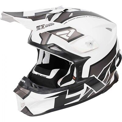 FXR Blade Clutch Helmet White Charcoal Black MEDIUM