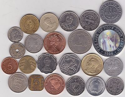 23 Mixed World Coins In Good Fine Or Better Condition