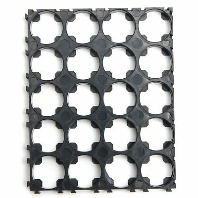 5Pcs 18650 Battery 4x5 Cell Spacer Radiating Shell Pack Plastic Heat Holder M