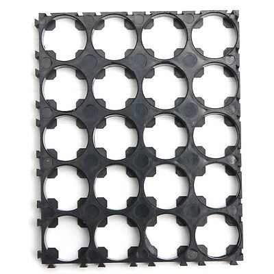 2Pcs 18650 Battery 4x5 Cell Spacer Radiating Shell Pack Plastic Heat Holder M