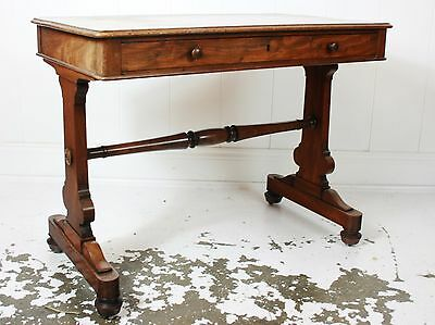 Antique William IV Mahogany Library Table Side Table Style of Holland and Sons