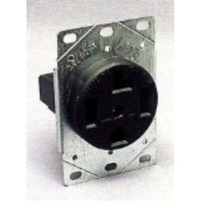 Eaton 1257-SP 3-Pole, 4-Wire 30-Amp 125/250-Volts Flush Mount Dryer Power Recept