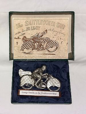 Glen English Pewter Sculpture Shuttleworth Snap, George Formby – No Limit