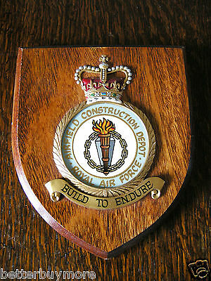 RAF Plaque - Royal Air Force Wooden Hanging Plaque - AIRFIELD CONSTRUCTION DEPOT