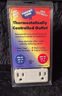 Thermo Cube Thermostatically Controlled Outlet Stop Freeze Ups Save Electricity