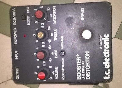 Vintage TC Electronic of Denmark Booster + Line Driver & Distortion Guitar Pedal