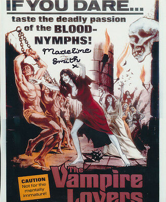 Madeline Smith In Person Signed Poster Photo - B184 - The Vampire Lovers