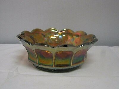 Vintage Imperial Glass Heavy Grape Nappy Or Small Berry Bowl (1911-1929) Smokey