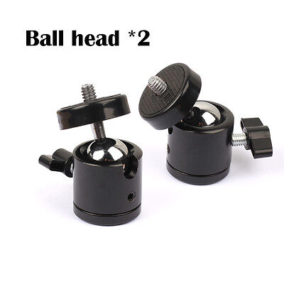 "Mini Black 1/4"" 360 Swivel Ball Head Screw For Camera Tripod DSLR Ballhead Stand"