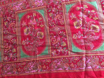 Indian Sari Dress, Pink Paisley.