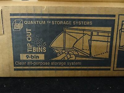 Quantum Clear Tip Out All-purpose Storage System 9-bin QTB309 NEW