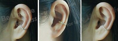 Conch Ear Ring Sterling Silver Tragus Hoop Nose Ring Cartilage Ear Cuff Ring