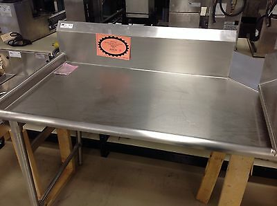 """Clean Dish Table 30""""x48"""" John Boos Jdtco20-48L Sits On Left Side Of Dishwasher"""