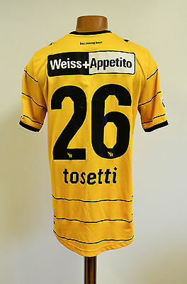 Bsc Young Boys Switzerland Match Worn Issue Football Shirt Jersey Puma Tosetti