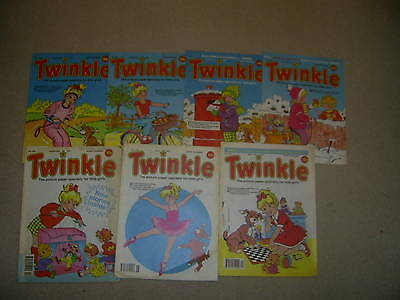 Twinkle, the paper comic for girls x 7  from 1990/91 like Judy and Bunty