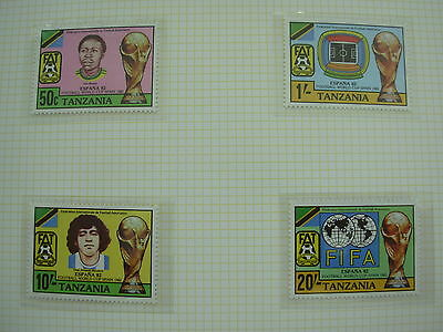 Tanzania Set Of Football Stamps World Cup Spain Espana 1982