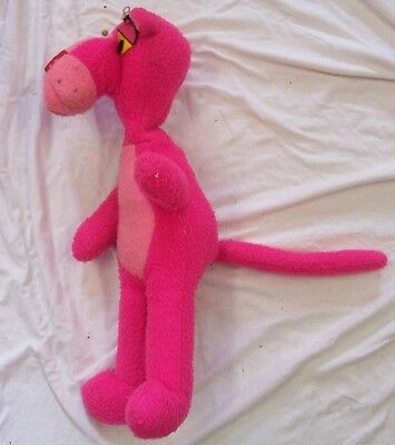 """Vintage 1964 PINK PANTHER Plush Stuffed Toy By MIGHTY STAR 15"""" Tall"""