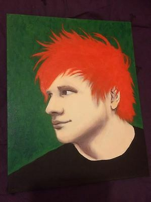 Ed Sheeran Original Acrylic Painting 'Thinking Out Loud' Pop Art Collectible