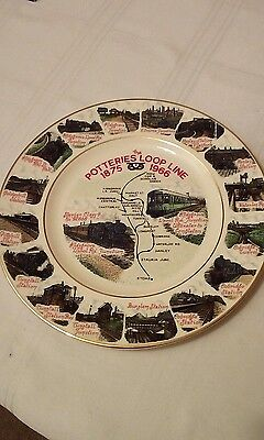 Stoke On Trent Potteries Loop Line China Plate