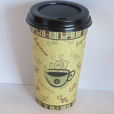 8 oz. paper coffee cups with lids- 100 sets