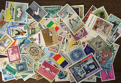 [Lot B1] 100 Different Mint Worldwide Stamp Collection