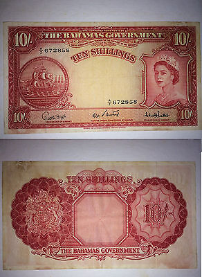 Bahamas: P14c Government of the Bahamas 1953 Issue 10 Shilling
