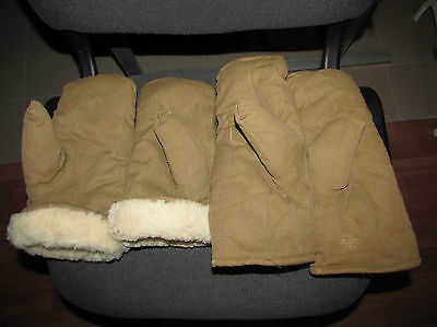 Russian red army uniform military glove mittens soldier's on sheep fur